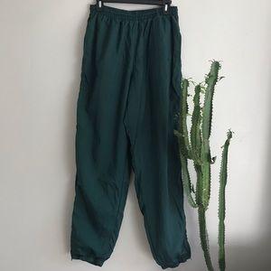 Nike Women's Vintage Green Track Pants Sz M
